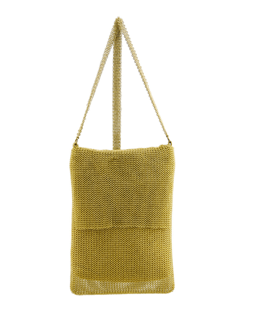 Gold Mini Mesh Bag