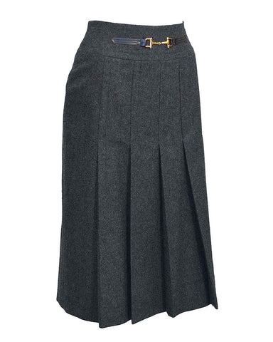 Grey Celine Pleated Skirt