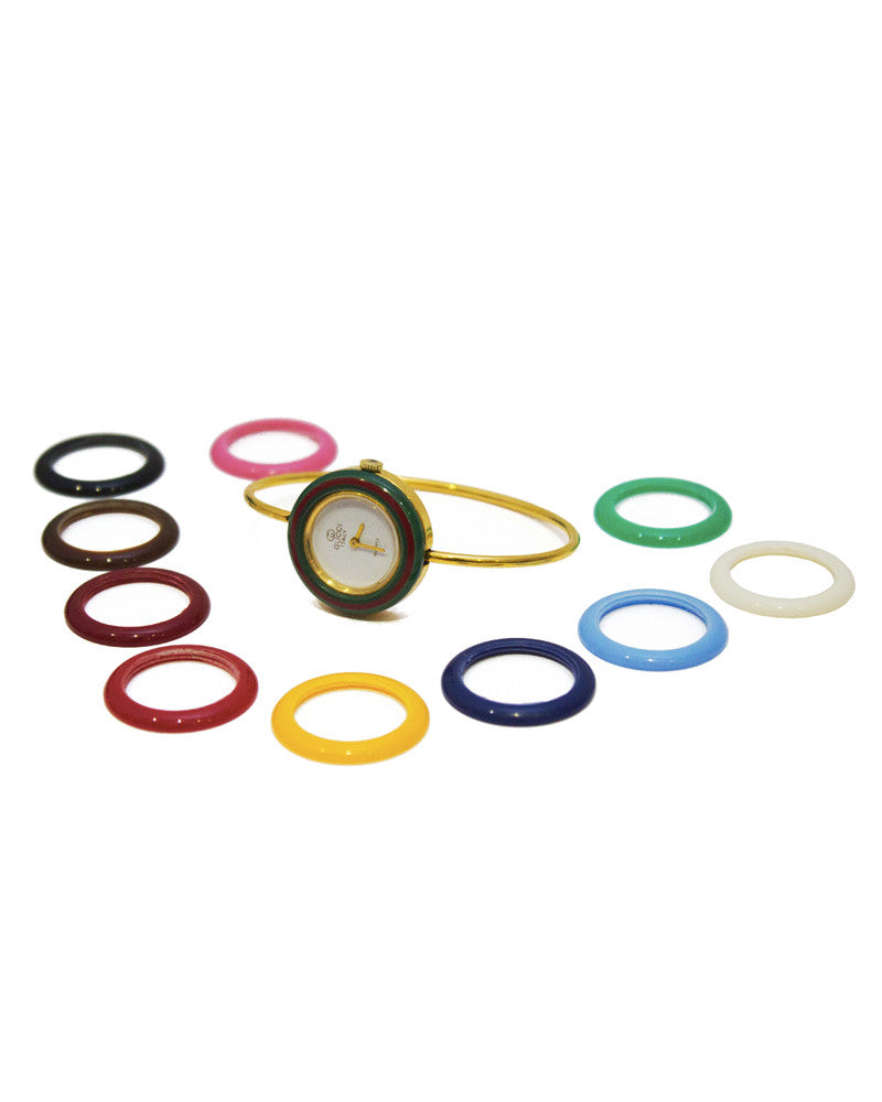 Multi-colored Ring Watch