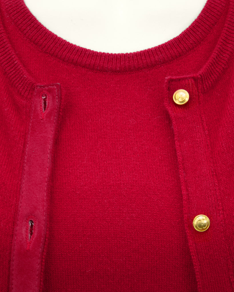 Red Cashmere Twin Set