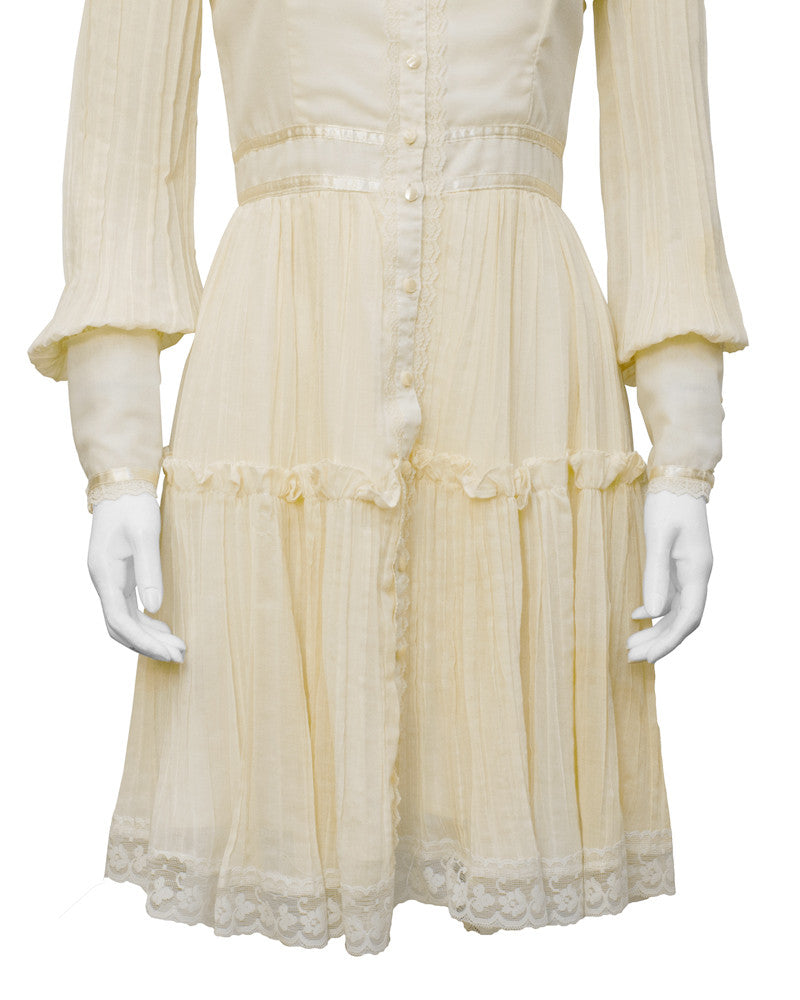 Cream Cotton Prairie dress