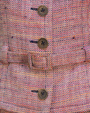 Red Tweed Skirt Suit