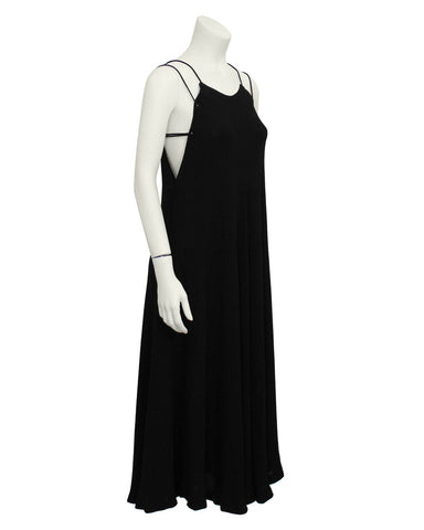 Black Double Strap Evening Dress