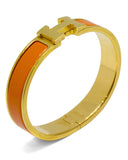 Orange and Gold 'Clic Clac' Bangle