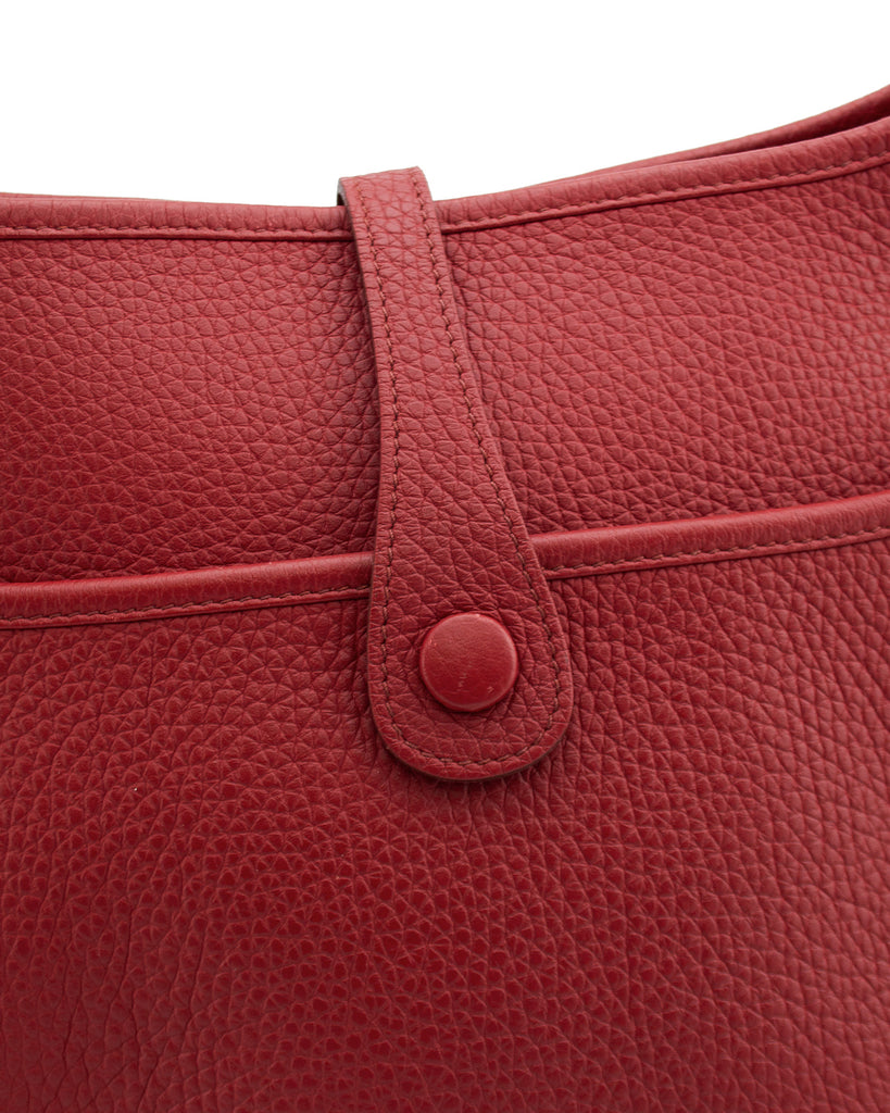 2012 Red Clemence PM III Evelyne Bag