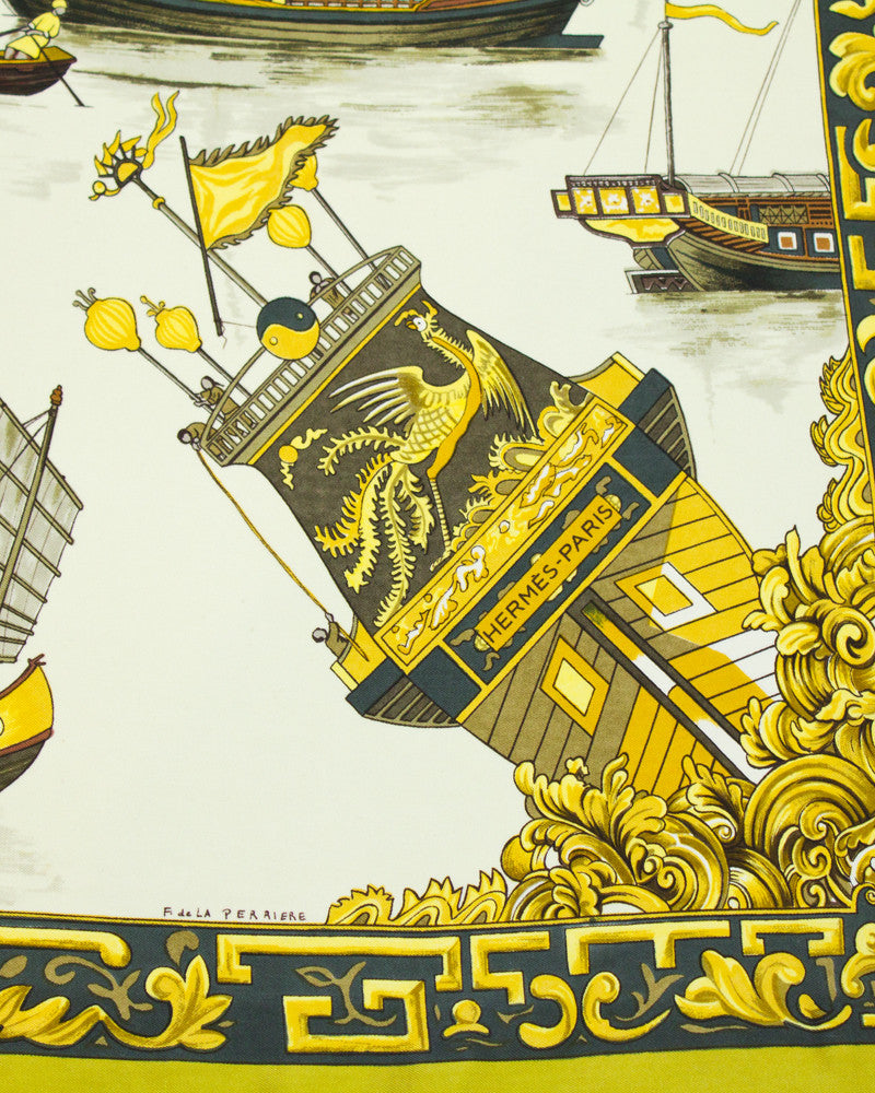 'Jonques et Sampans' 1st edition silk scarf