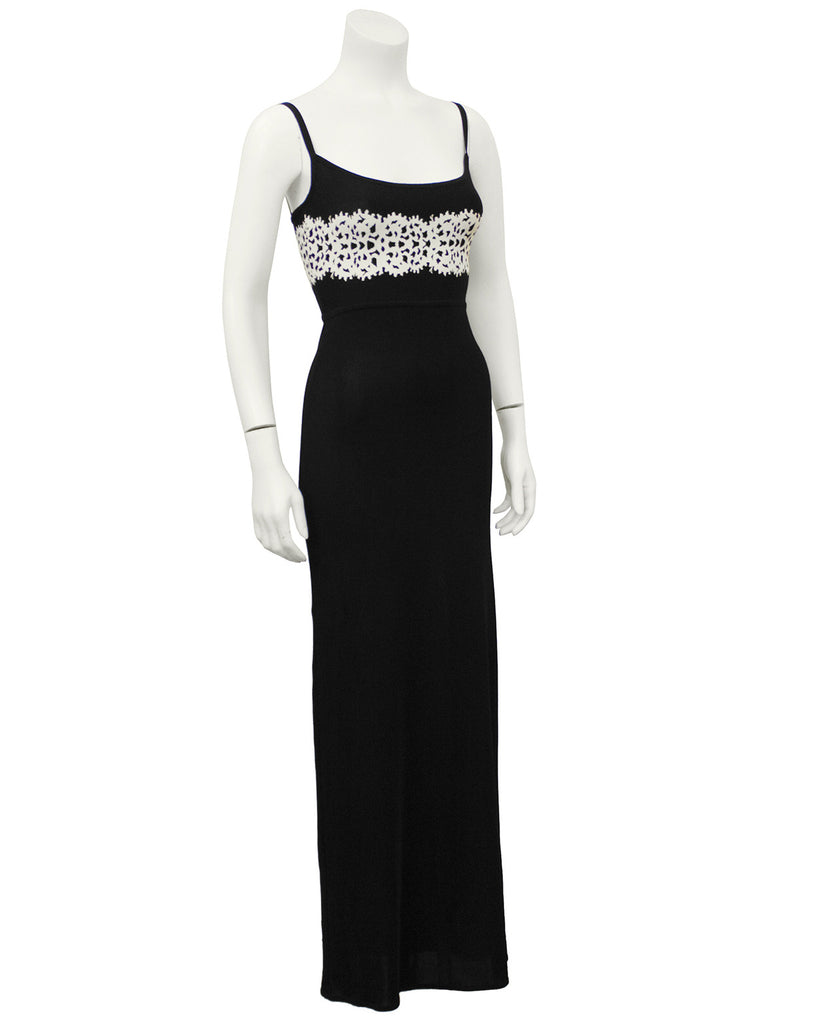 Black Gown with Cream Detailing