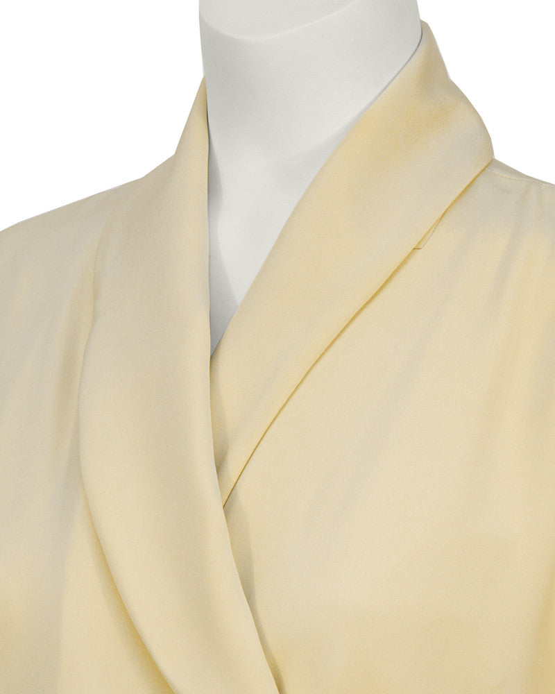 Cream Silk Robe Dress