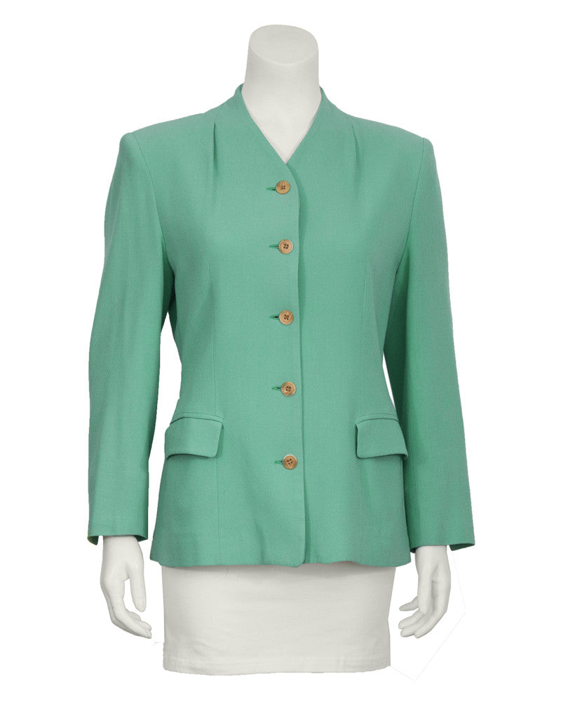 Mint Green Crepe Jacket
