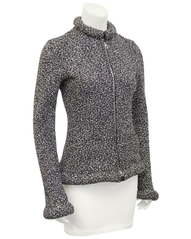 Black and White Tweed Magnetic Jacket
