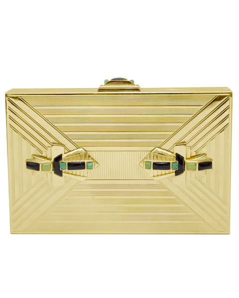 Gold Art Deco Rectangle Clutch