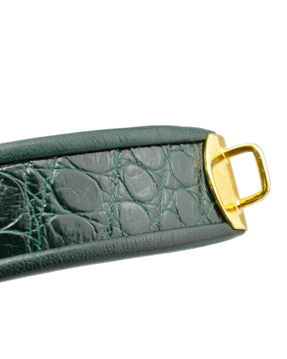 Green Belt with Gold Hardware
