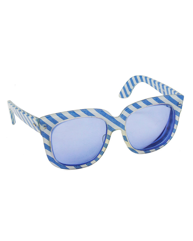 Blue Striped Sunglasses
