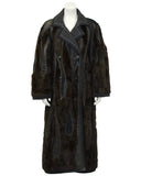 Brown, black and cream Mink and Patchwork Coat