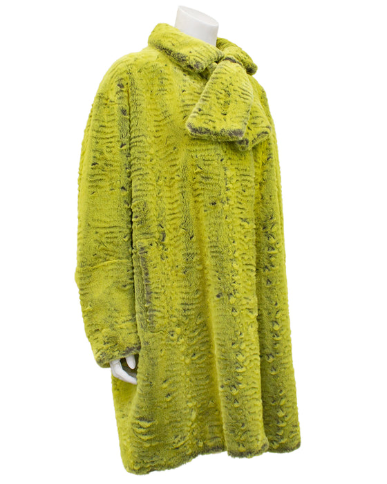 Chartreuse Faux Fur Coat