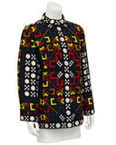 Multicolor Graphic Print Jacket