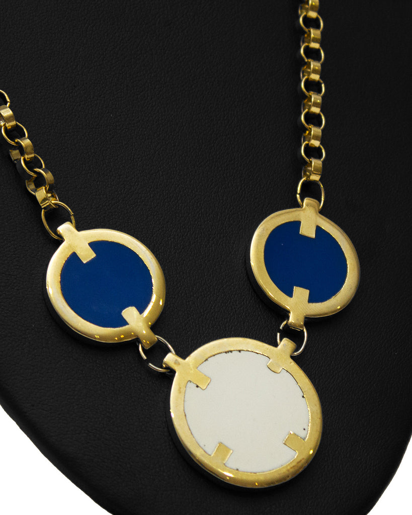 Mod Look Disk Necklace