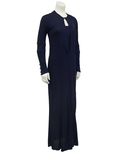 Navy Jersey Gown