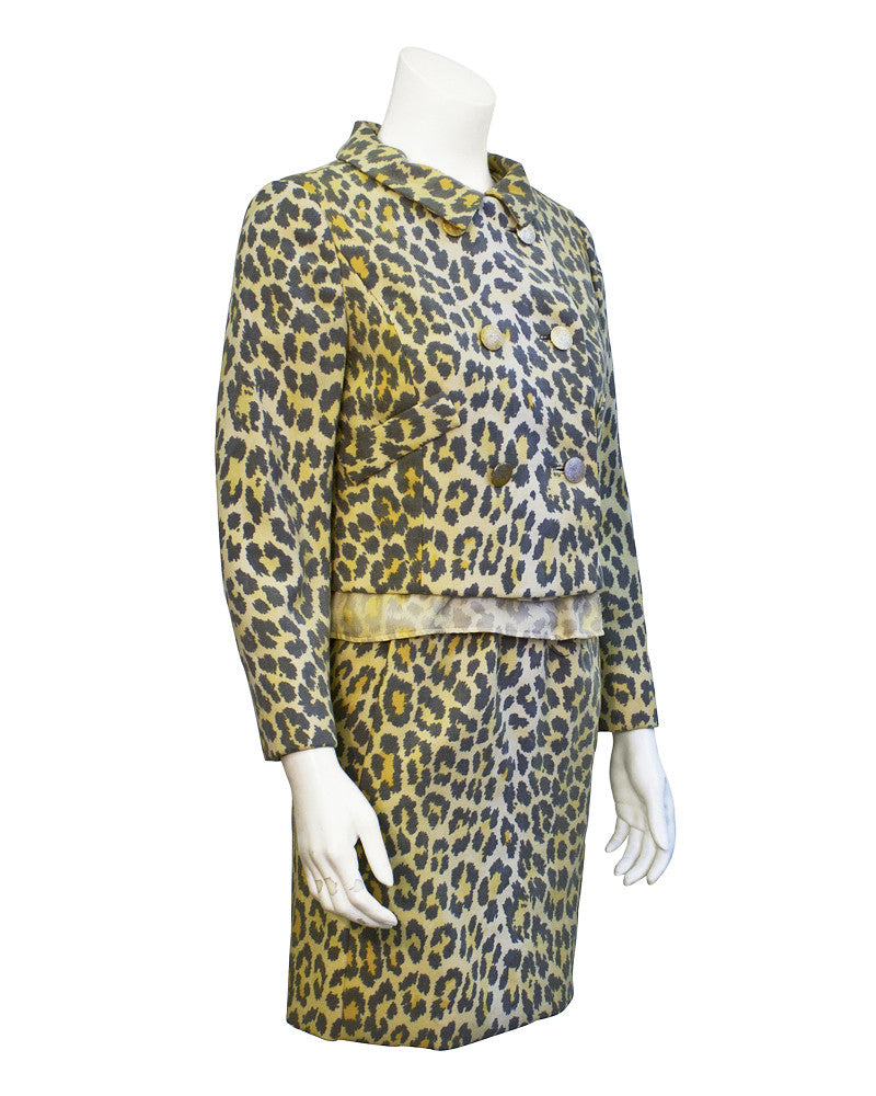 Leopard 3 piece suit