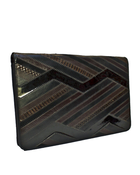 Exotic Skin Patchwork Clutch