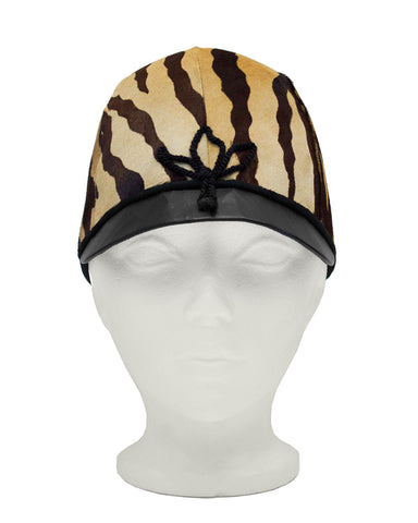 Faux Tiger Jockey Cap