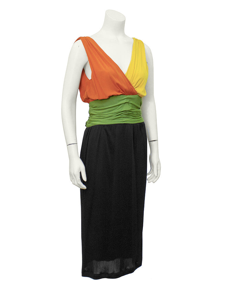 Tri-color Jersey Dress