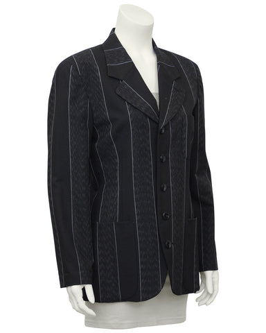 Grey Pin Stripe Blazer