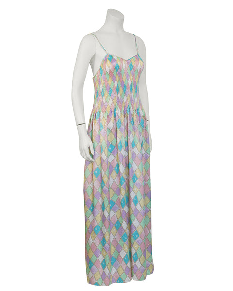Multi Color Pastel Pleated Dress
