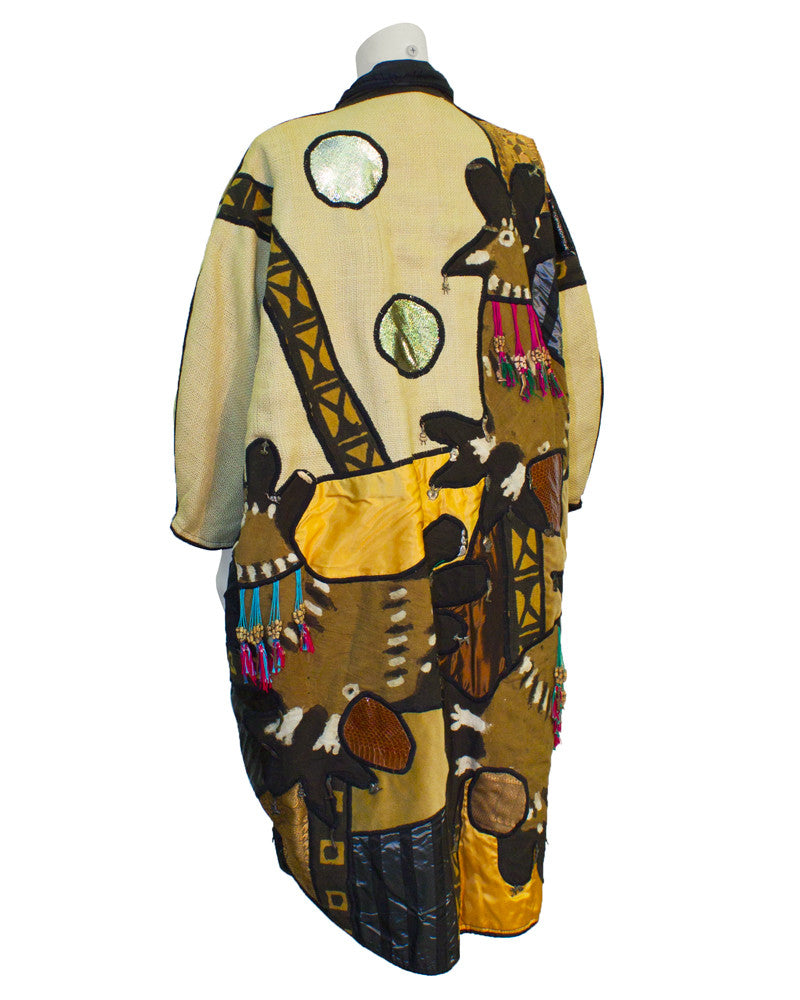 Tan Mexican Applique Artists Coat