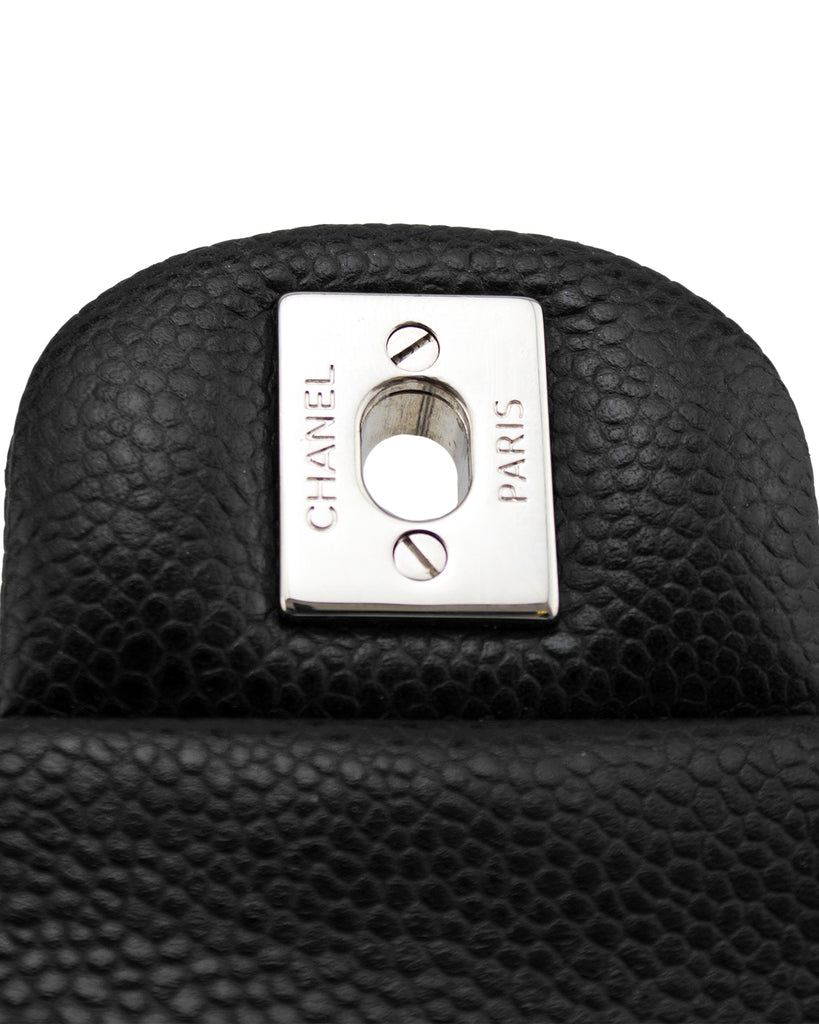 d661ea17336fd3 ... 2013 Black Quilted Caviar Leather Chanel Classic Mini Flap Bag