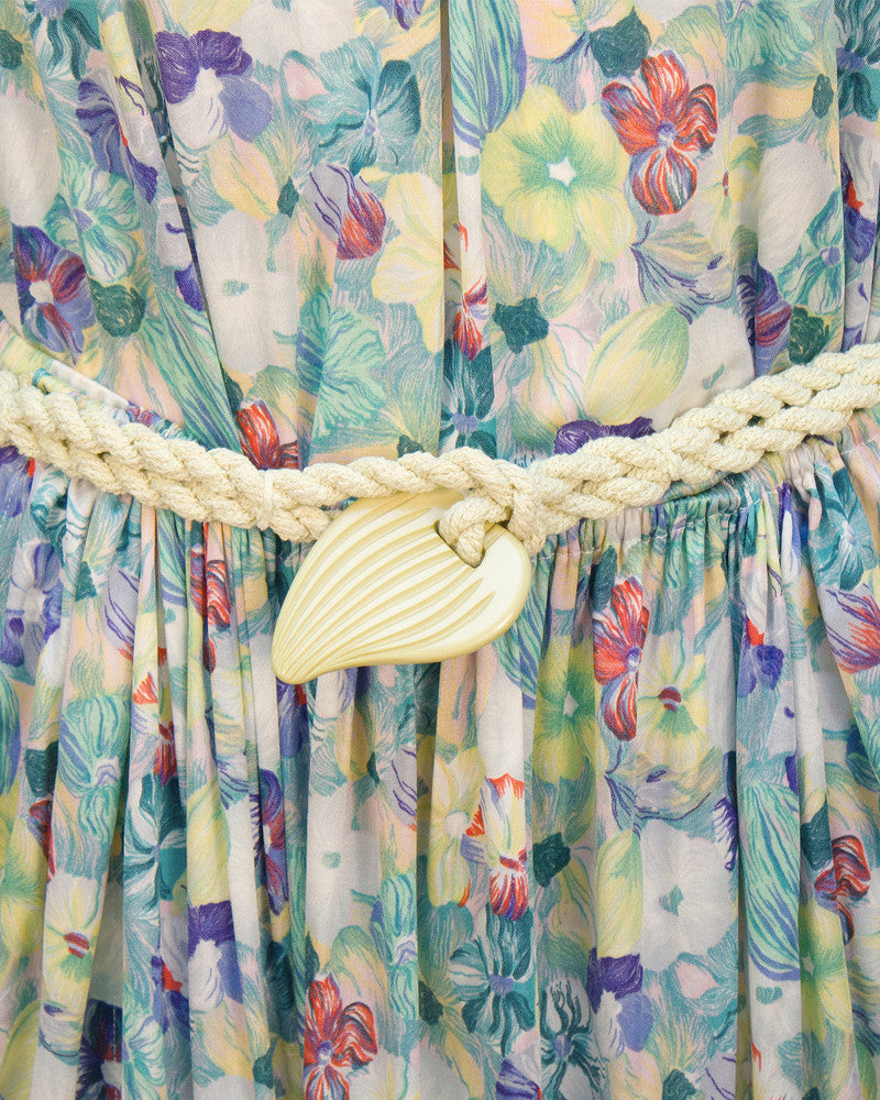 Floral Ensemble with Rope Belt