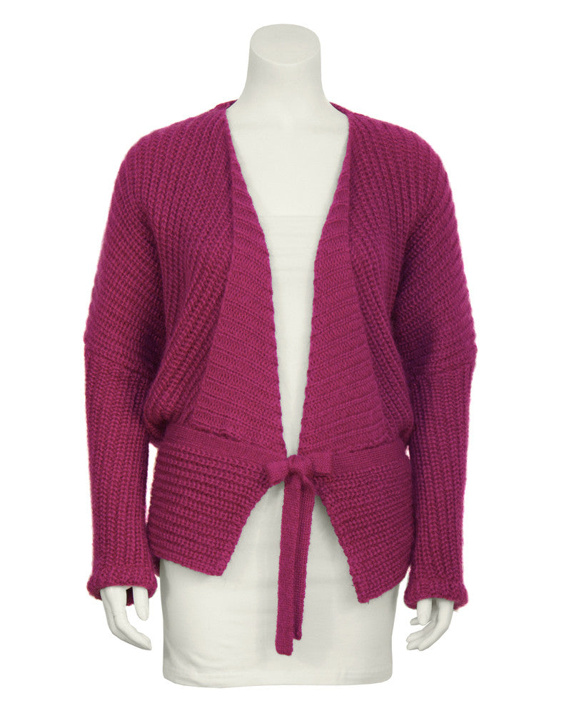 Chunky Fuschia Knit Sweater