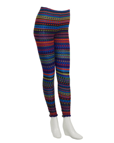 Multi Color Striped Knit Legging