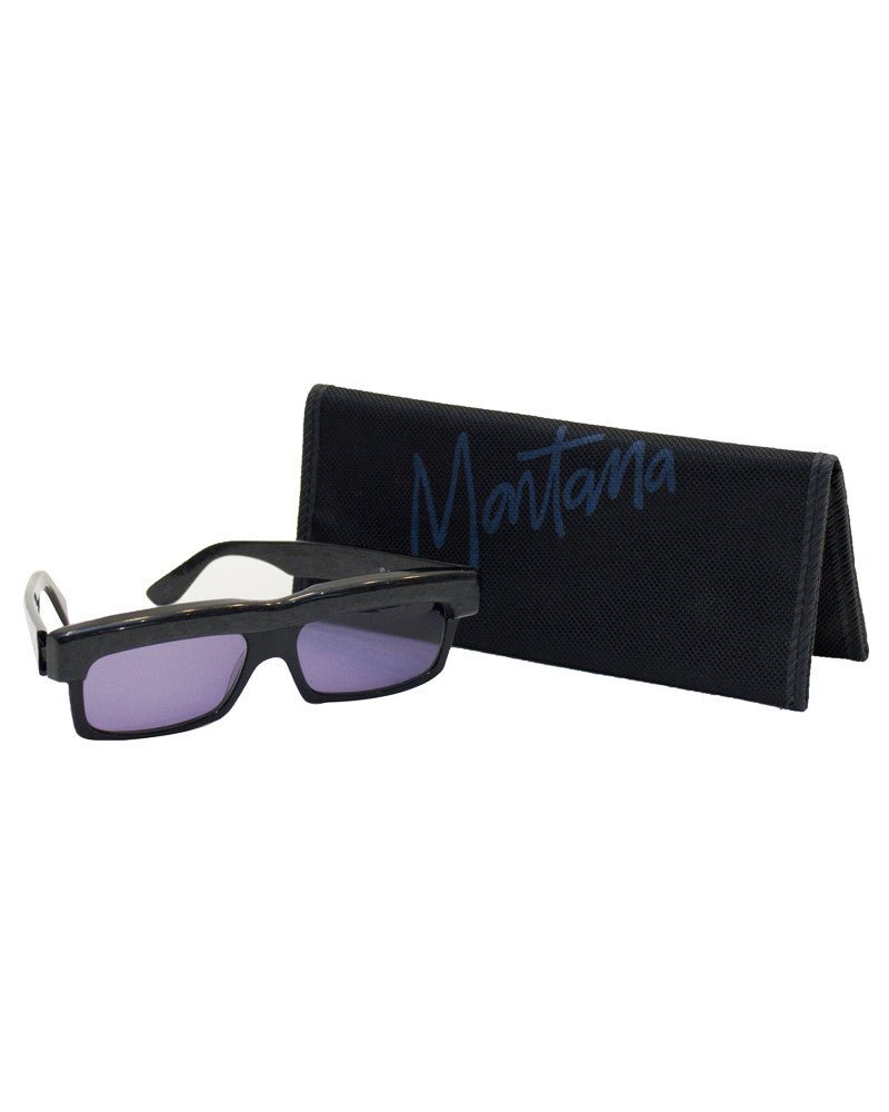 Mikli for Montana Black Sunglasses