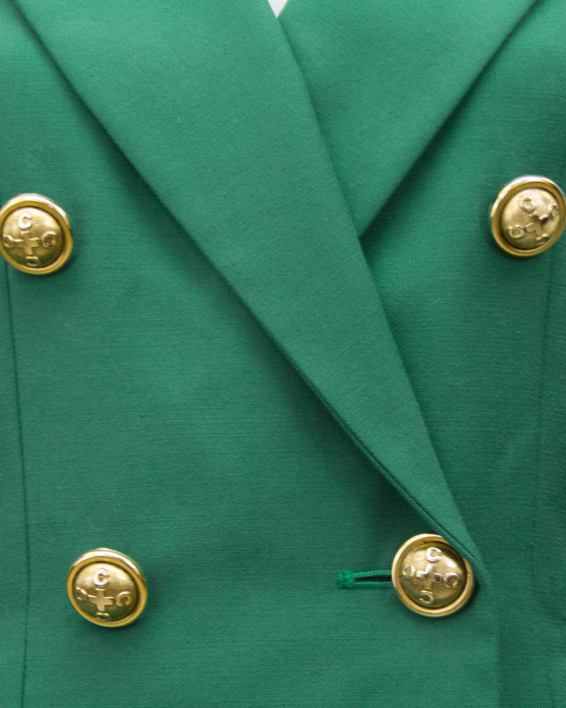 Green Wool Skirt Suit