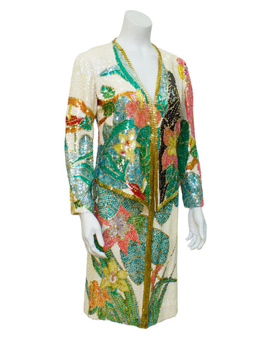 Floral Beaded Evening Suit