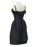 Black Couture Dress with Mink Trim