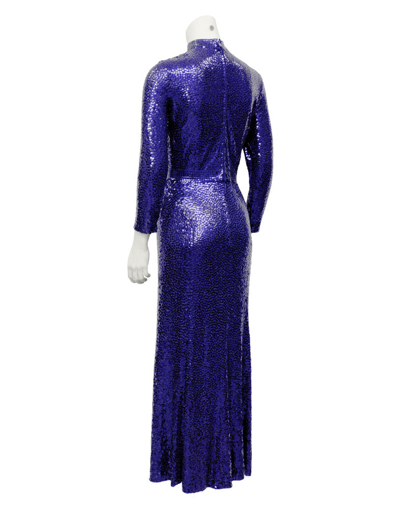 Blue Mermaid Sequin Gown