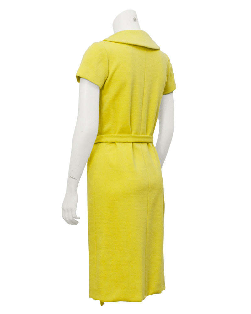 Yellow Asymmetrical Button Up Dress