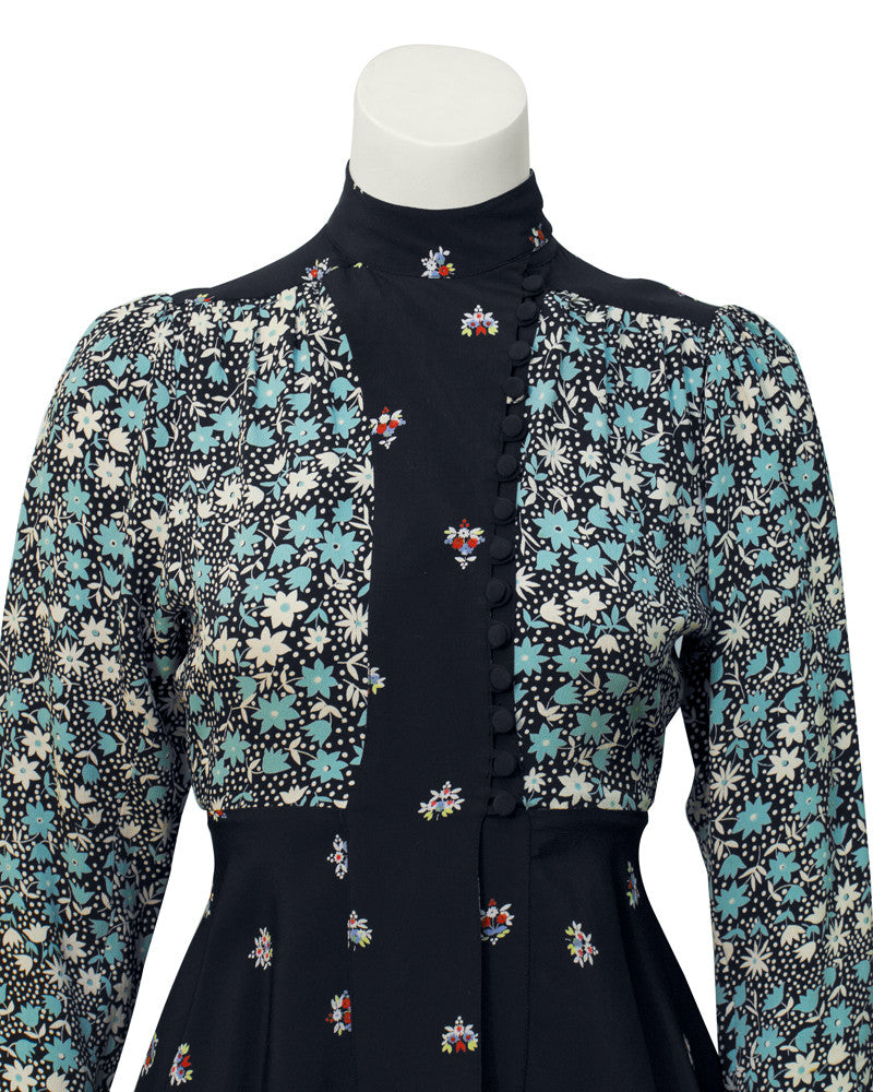 Blue Moss Crepe Printed Top