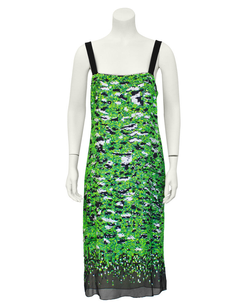 Green Sequin Camo Dress