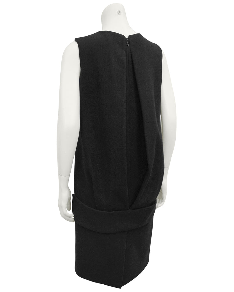 Black Wool Shift Dress
