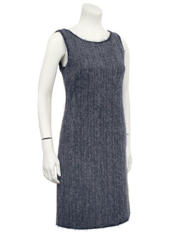 Grey Wool and Mohair Shift Dress
