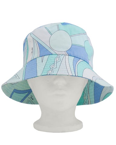 Blue and Green Bucket Hat