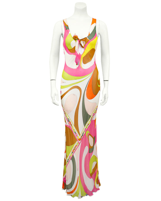 Multi Colour Chiffon Gown