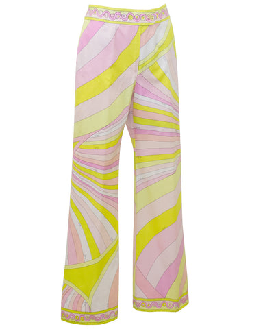 Pink and Yellow Cotton Pants
