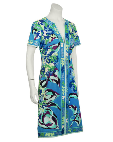 Cotton Blue and Green Dress