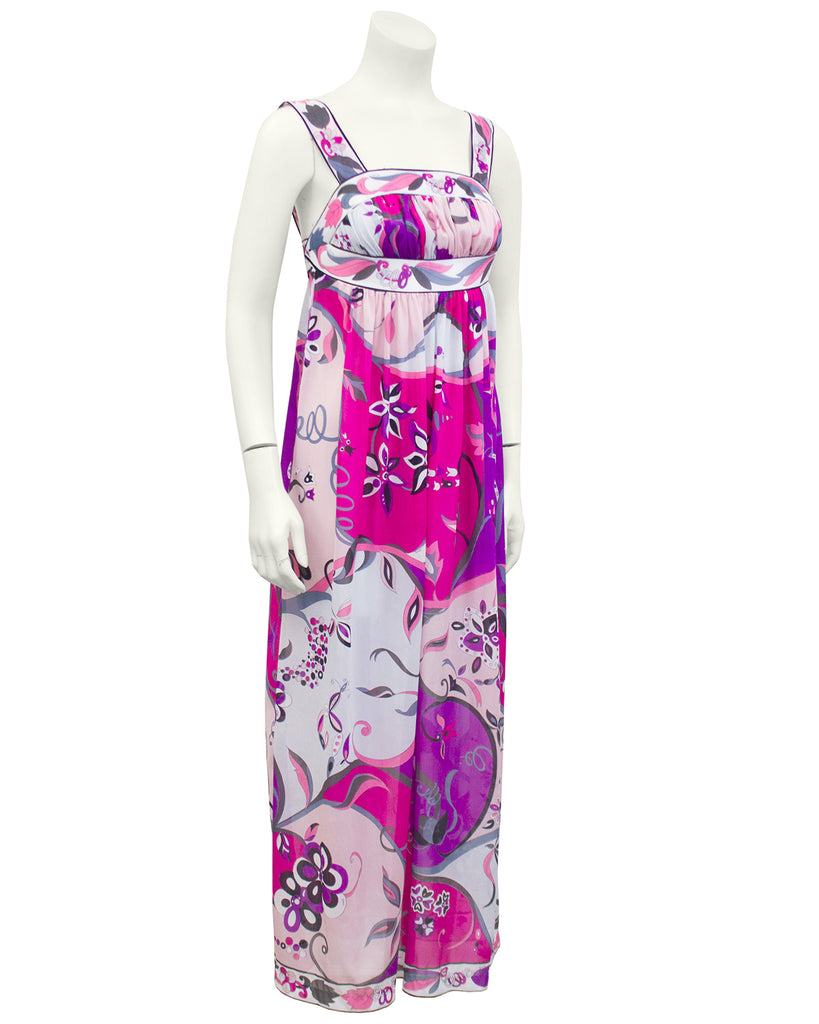 Pink Printed Nylon Nightgown