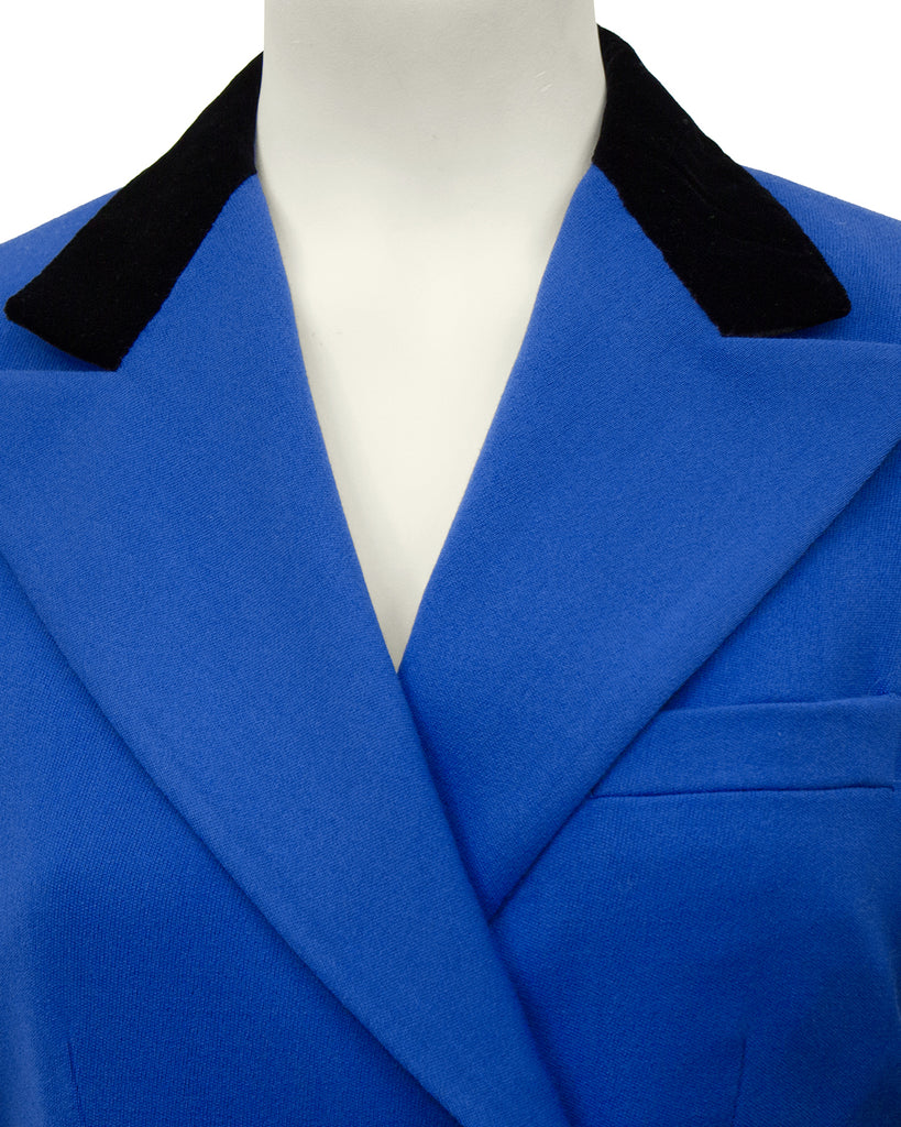 Blue Equestrian Inspired Skirt Suit