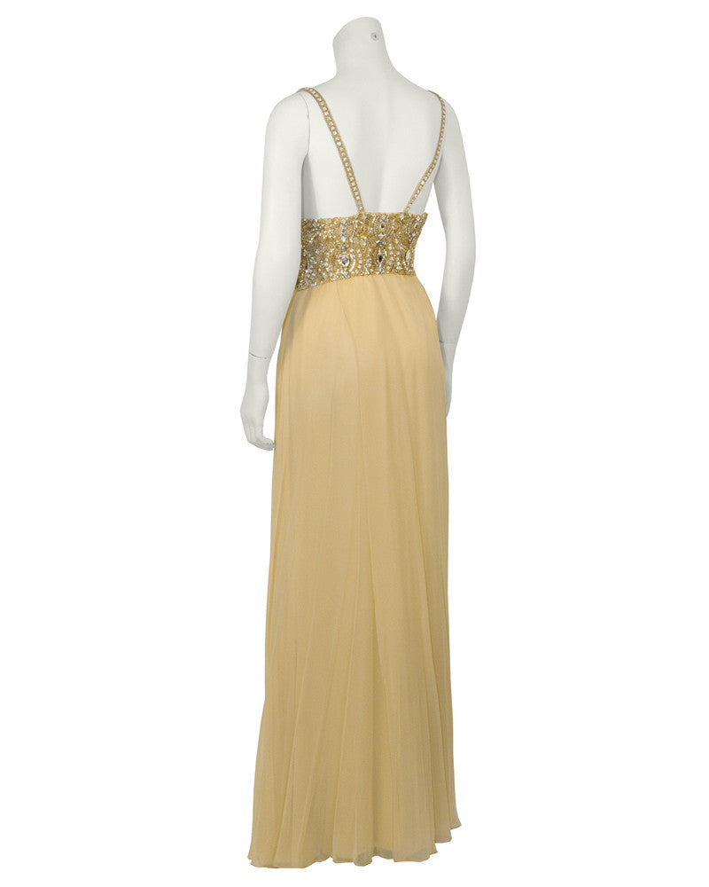 Yellow Embellished Gown